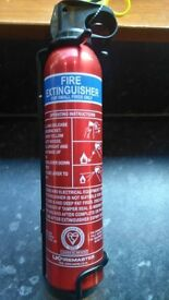 Fire Extinguisher (powder) and Fire Blanket
