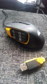 Cordair scimitar gaming mouse 12000 DPI yellow