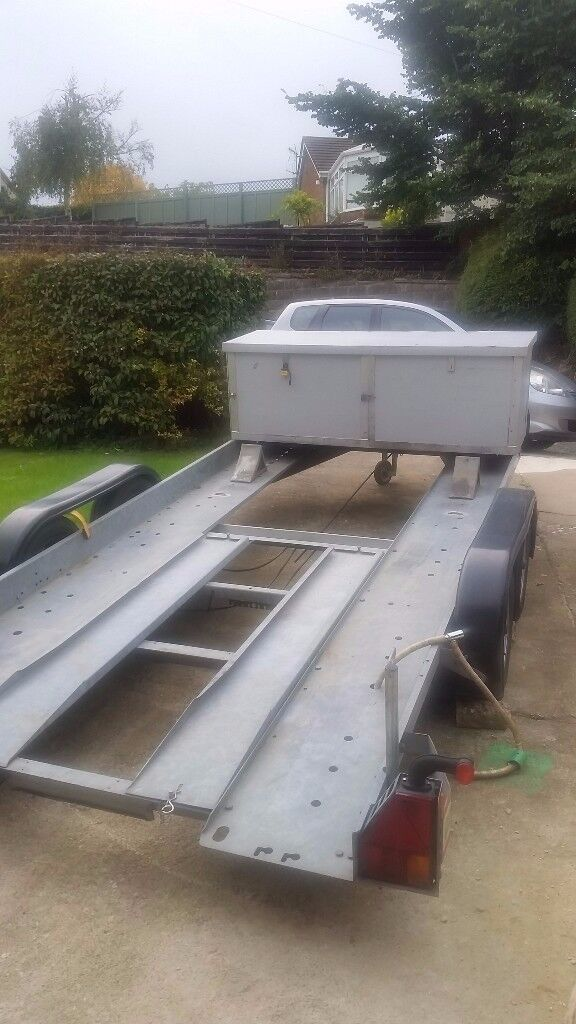 Brian James Trailer (Clubman 185) 4 Wheel, manual winch, fuel & tool storage box (Very little use).