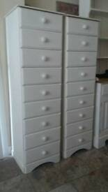 Shabby chic drawers.