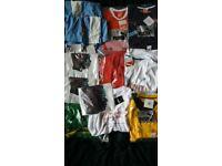 bundle of new unused sports t-shirts & shorts