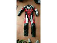 Motorcycle 2 piece leather