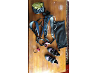 Climbing shoes and harness and accessories (women)
