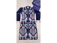 BNWT designers velvet jacket style 4 pc Salwar/shalwar suit