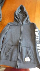 Abercrombie Kids Blue hooded jacket size 8/9 years