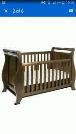Boori 3 in 1 sleigh cot bed oak