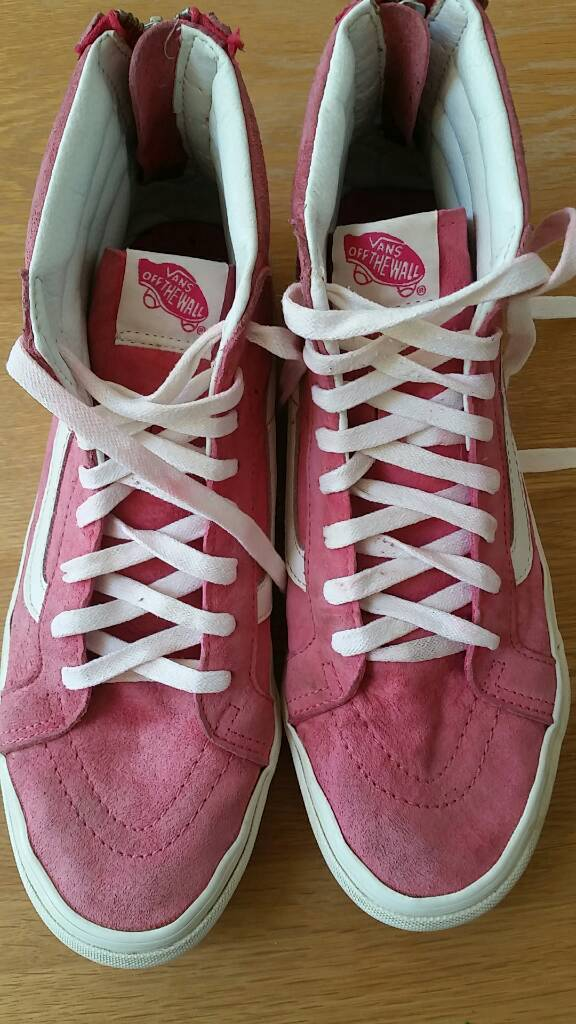 b97ab38b48e Pink suede high top Vans ladies size 7