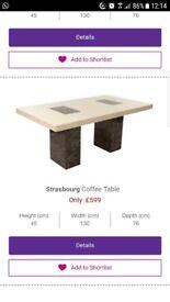 BRAND BEW MARBLE COFFEE TABLE!!!