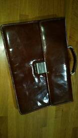 Brown leather document carrier