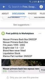 car parts new nissan primera back box
