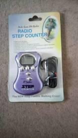 Radio step counter