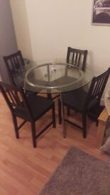 Dining table & 4 chairs MUST GO TODAY, FRIDAY