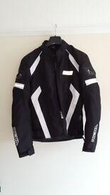 ladies zipped together motorbike suit