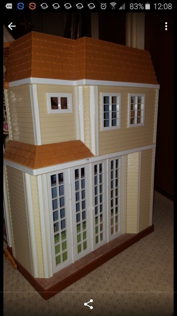 Dolls House, opens up, several rooms, with all accessories.