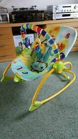 Bright Stars baby bouncy rocking vibrating chair