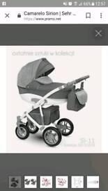 Unisex gray pram/pushchair