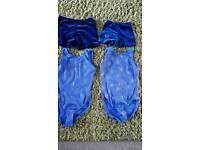 Girls gymnastic leotard and shorts