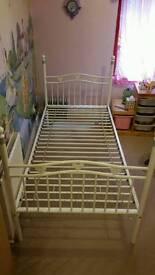 Next metal single bed