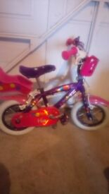 Girls children's bike suitable for 3 5 yr old