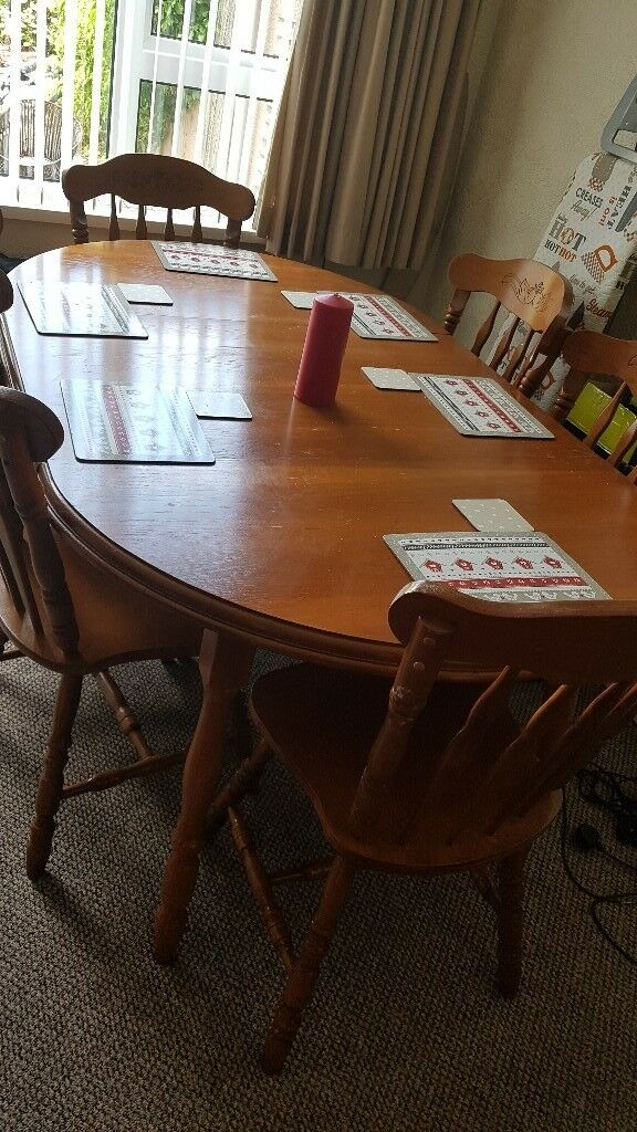 Large Dining Table And 6 Chairs In Belfast City Centre Belfast Gumtree