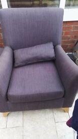 Comfy purple lounge chair