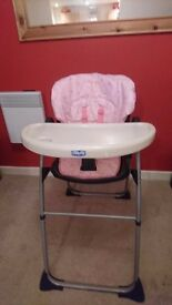 High chair and baby car seat/carrier