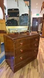 Vintage chest draws with mirror