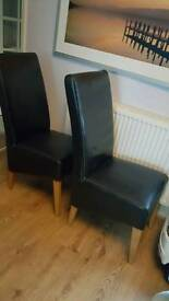 2 Strong leather chairs