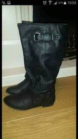 Black boots from new look size 6