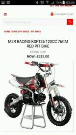 M2R racing kxf 120cc want gone TODAY!!!