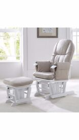 Tutti Bambini Deluxe Reclinable Glider chair and Stool.