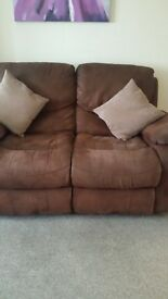 2 x 2seater sofas and chair all recliners chair rocks