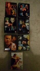 24 season 1,2,3,4,5,6 plus 24 Redemption dvd with season 7 prewiev