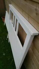 IKEA white wood single bed
