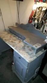 Shabby chic vintage grey vanity dressing table