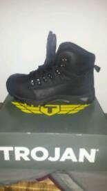 Trojan size 11 steel toe boots. New.