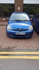 3 Door Blue Toyota Yaris