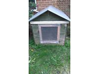 Rabbit Hutch , Large bespoke solid wooden hutch, set out over 3 levels.