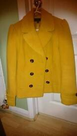 Mustard coat/jacket size 14
