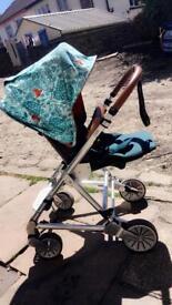 Mamas & papas; designer Donna Wilson Fox pushchair