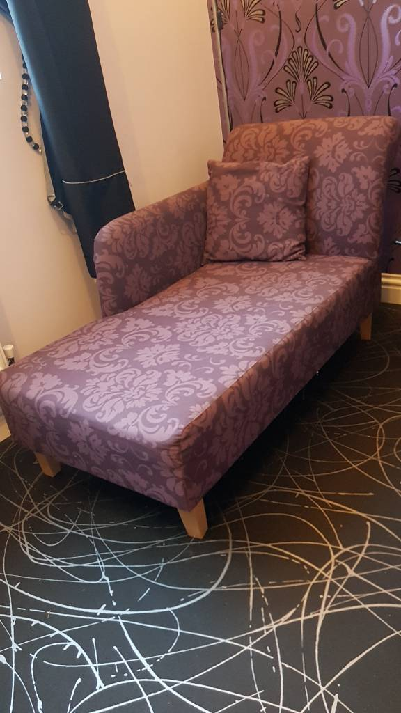 Lavender Mauve Chaise Lounger Chair