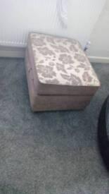 Big storage footstool