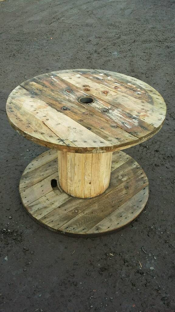 wooden cable drum reel table in newtownabbey county