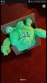 Alien hottie - teddy filled with lavender balls - heat in microwave to help your little one unwind