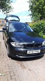 BMW 1 series SE 2l sports black with grey interior very clean auto