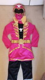 Brand new Rubies Pink Power Ranger Costume Dress Up Outfit size 7-8
