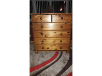 Lovely set of Solid Pine Chest of Drawers