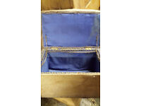 FOOT STOOL/SMALL CHEST/MATERIAL COVERED