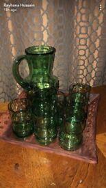 7 piece glass set