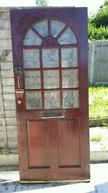 Solid wood external doors x4
